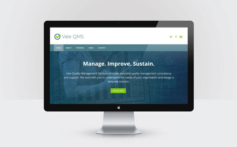 Vale QMS branding and website design