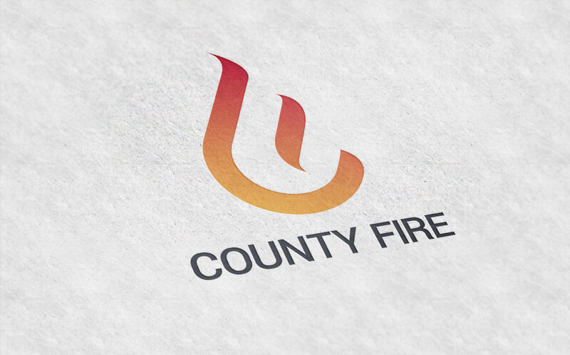 Logo for small business County Fire