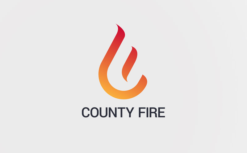 County Fire logo and website