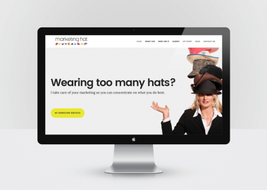 website design for Marketing Hat
