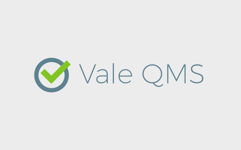 Vale QMS small business logo design