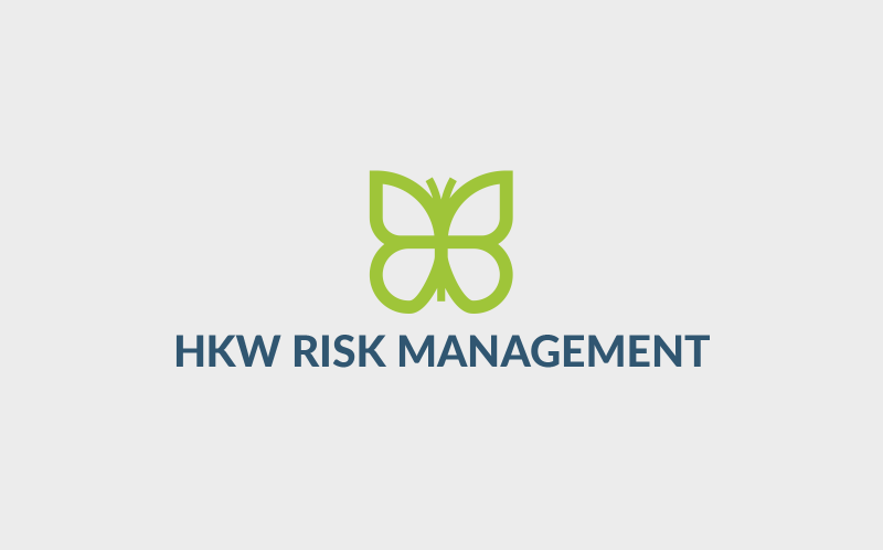 HKW Risk Management small business logo design