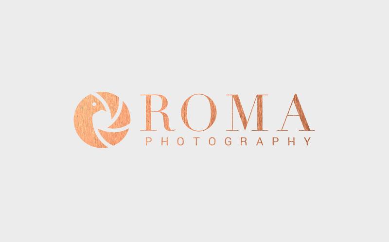 roma photography small business logo design