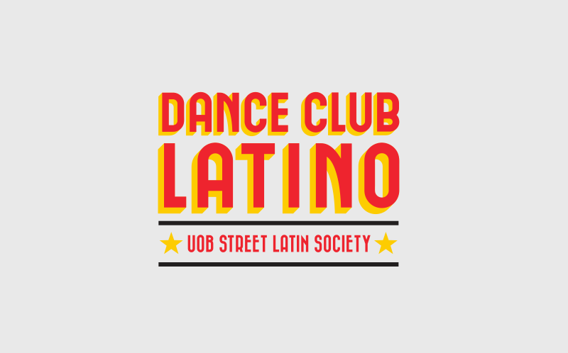 Logo and marketing materials for Dance Club Latino