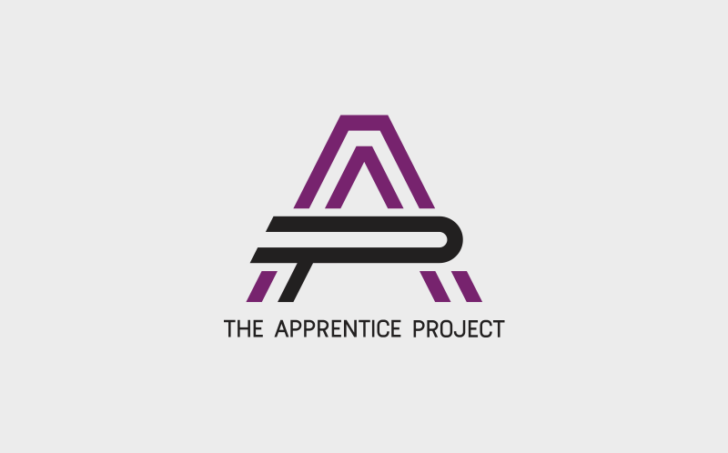 Logo, website and marketing material for The Apprentice Project