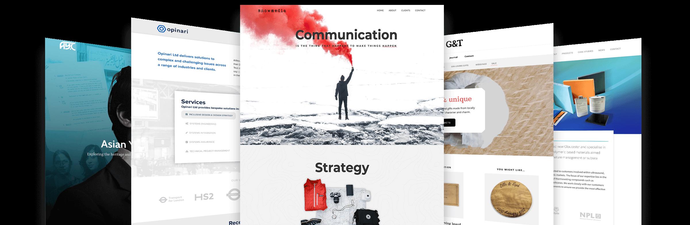 Examples of my WordPress website design