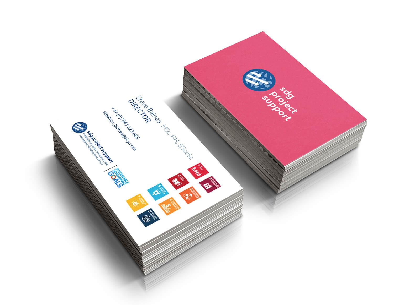minimal logo design business cards