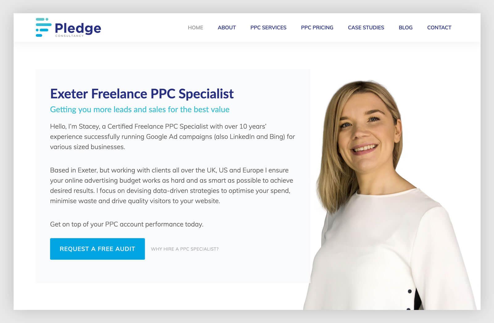 WordPress website design for PPC client