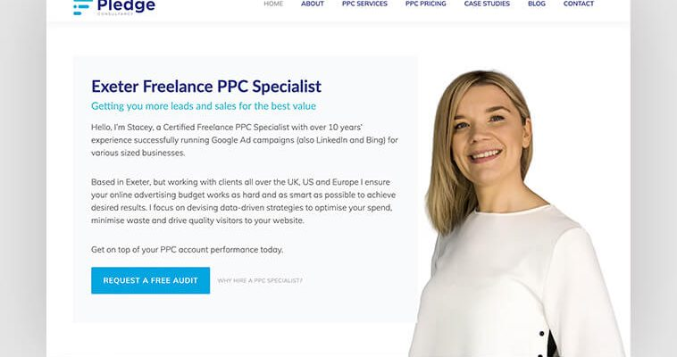 WordPress website design and build for PPC client
