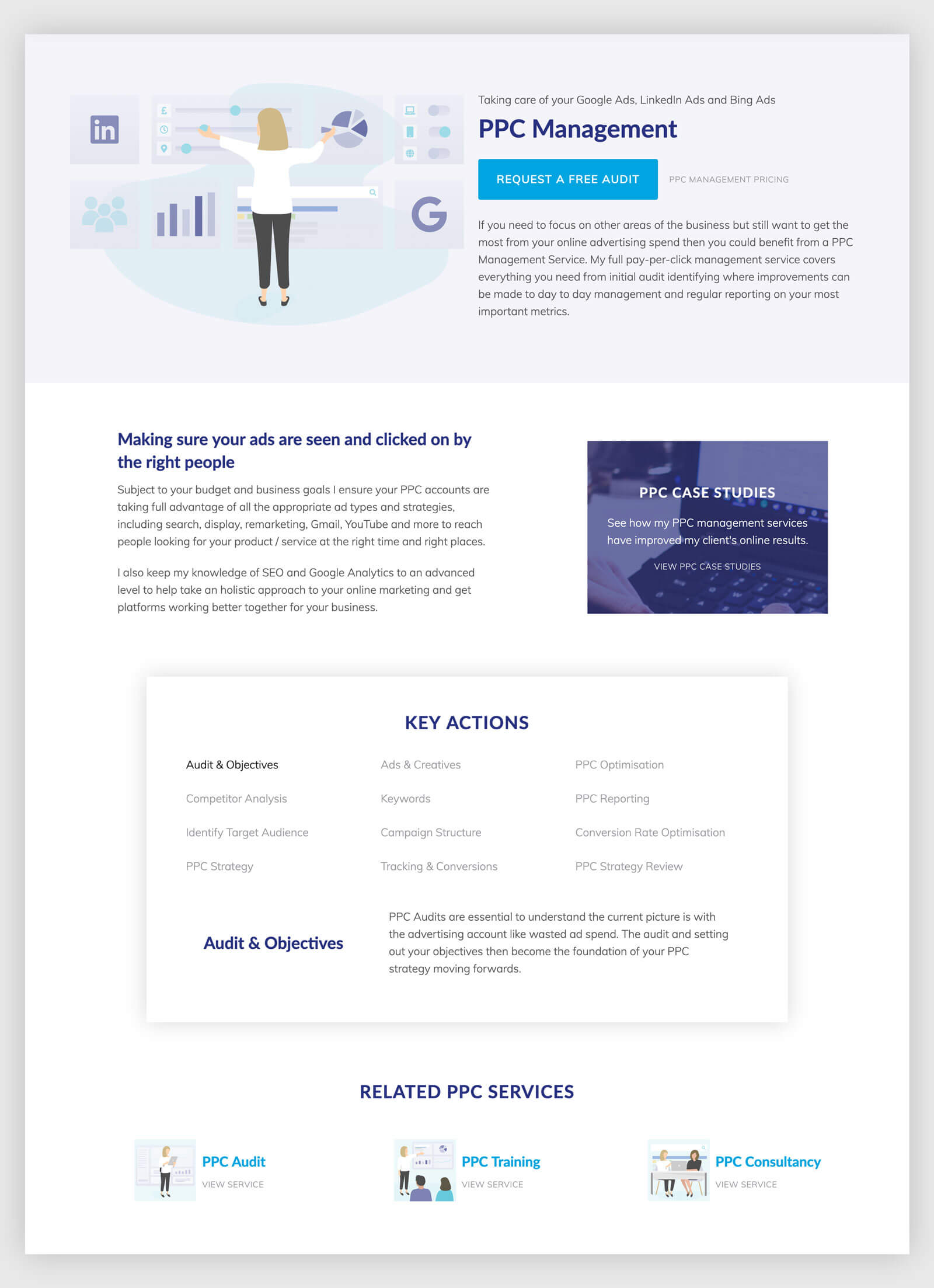 ppc management page design
