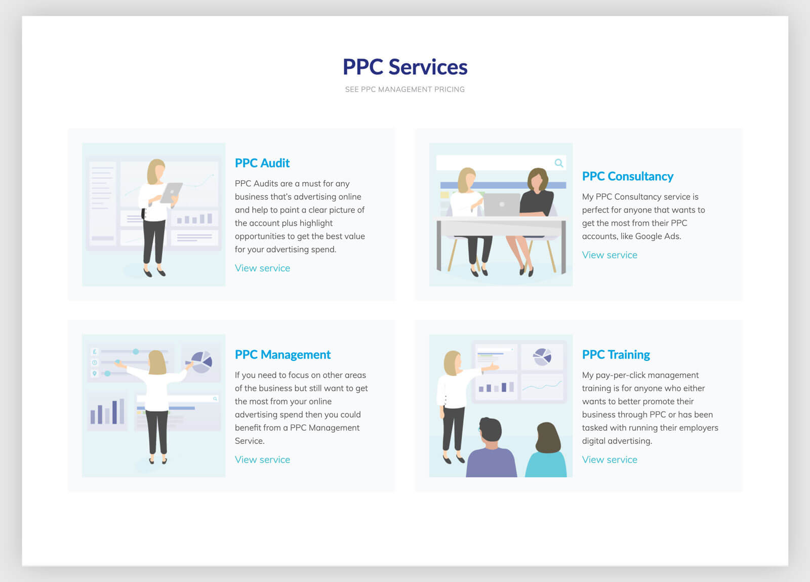 ppc service page design